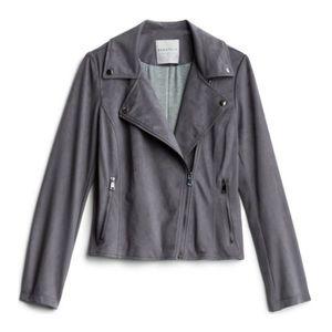NWT bagatelle kelby faux suede moto jacket